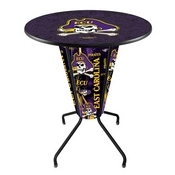 Lighted L218 - 42 Black East Carolina Pub Table by Holland Bar Stool Co.
