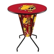 Lighted L218 - 42 Black Ferris State Pub Table by Holland Bar Stool Co.