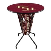 Lighted L218 - 42 Black Florida State (Script) Pub Table by Holland Bar Stool Co.