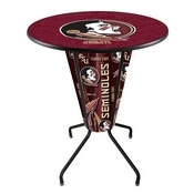 Lighted L218 - 42 Black Florida State (Head) Pub Table by Holland Bar Stool Co.
