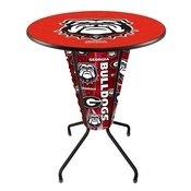 Lighted L218 - 42 Black Georgia Bulldog Pub Table by Holland Bar Stool Co.