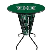 Lighted L218 - 42 Black Hawaii Pub Table by Holland Bar Stool Co.