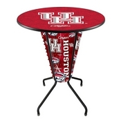 Lighted L218 - 42 Black Houston Pub Table by Holland Bar Stool Co.