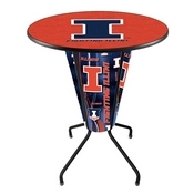 Lighted L218 - 42 Black Illinois Pub Table by Holland Bar Stool Co.