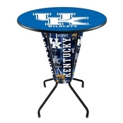 Lighted L218 - 42 Black Kentucky UK Pub Table by Holland Bar Stool Co.
