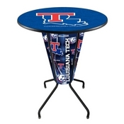 Lighted L218 - 42 Black Louisiana Tech Pub Table by Holland Bar Stool Co.