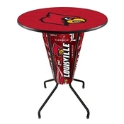 Lighted L218 - 42 Black Louisville Pub Table by Holland Bar Stool Co.