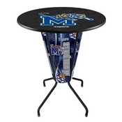 Lighted L218 - 42 Black Memphis Pub Table by Holland Bar Stool Co.