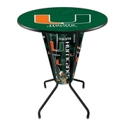 Lighted L218 - 42 Black Miami (FL) Pub Table by Holland Bar Stool Co.