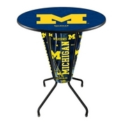 Lighted L218 - 42 Black Michigan Pub Table by Holland Bar Stool Co.