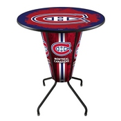 Lighted L218 - 42 Black Montreal Canadiens Pub Table by Holland Bar Stool Co.