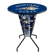 Lighted L218 - 42 Black Montana State Pub Table by Holland Bar Stool Co.