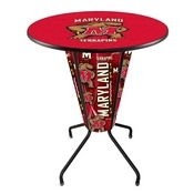 Lighted L218 - 42 Black Maryland Pub Table by Holland Bar Stool Co.