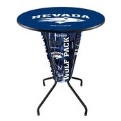Lighted L218 - 42 Black Nevada Pub Table by Holland Bar Stool Co.