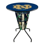 Lighted L218 - 42 Black Notre Dame (ND) Pub Table by Holland Bar Stool Co.