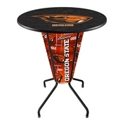 Lighted L218 - 42 Black Oregon State Pub Table by Holland Bar Stool Co.