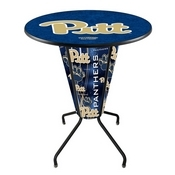 Lighted L218 - 42 Black Pitt Pub Table by Holland Bar Stool Co.