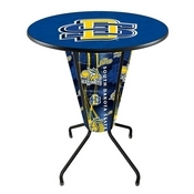 Lighted L218 - 42 Black South Dakota State Pub Table by Holland Bar Stool Co.