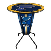 Lighted L218 - 42 Black St Louis Blues Pub Table by Holland Bar Stool Co.