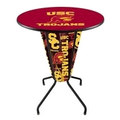Lighted L218 - 42 Black USC Trojans Pub Table by Holland Bar Stool Co.