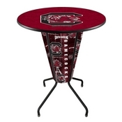 Lighted L218 - 42 Black South Carolina Pub Table by Holland Bar Stool Co.