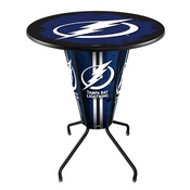 Lighted L218 - 42 Black Tampa Bay Lightning Pub Table by Holland Bar Stool Co.