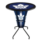 Lighted L218 - 42 Black Toronto Maple Leafs Pub Table by Holland Bar Stool Co.