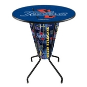 Lighted L218 - 42 Black Tulsa Pub Table by Holland Bar Stool Co.