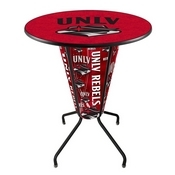 Lighted L218 - 42 Black UNLV Pub Table by Holland Bar Stool Co.
