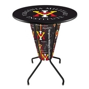 Lighted L218 - 42 Black Virginia Military Institute Pub Table by Holland Bar Stool Co.