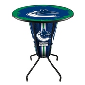 Lighted L218 - 42 Black Vancouver Canucks Pub Table by Holland Bar Stool Co.