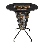 Lighted L218 - 42 Black Western Michigan Pub Table by Holland Bar Stool Co.