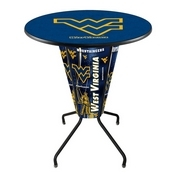 Lighted L218 - 42 Black West Virginia Pub Table by Holland Bar Stool Co.