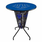 Lighted L218 - 42 Black Washington & Lee Pub Table by Holland Bar Stool Co.
