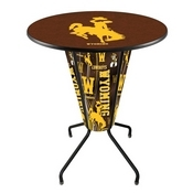 Lighted L218 - 42 Black Wyoming Pub Table by Holland Bar Stool Co.