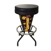 Lighted Central Michigan Swivel Bar Stool By Holland Bar Stool Co.