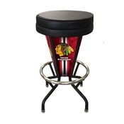 Lighted Chicago Blackhawks Swivel Bar Stool By Holland Bar Stool Co.