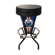 Lighted Edmonton Oilers Swivel Bar Stool By Holland Bar Stool Co.