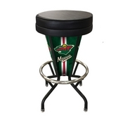 Lighted Minnesota Wild Swivel Bar Stool By Holland Bar Stool Co.