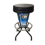 Lighted U.S. Navy Swivel Bar Stool By Holland Bar Stool Co.
