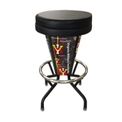 Lighted Virginia Military Institute Swivel Bar Stool By Holland Bar Stool Co.