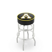L7C1 - 4 Appalachian State Cushion Seat with Double-Ring Chrome Base Swivel Bar Stool by Holland Bar Stool Company