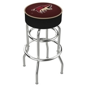 L7C1 - 4 Arizona Coyotes Cushion Seat with Double-Ring Chrome Base Swivel Bar Stool by Holland Bar Stool Company