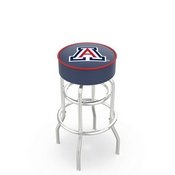 L7C1 - 4 Arizona Cushion Seat with Double-Ring Chrome Base Swivel Bar Stool by Holland Bar Stool Company
