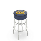 L7C1 - 4 Cal Cushion Seat with Double-Ring Chrome Base Swivel Bar Stool by Holland Bar Stool Company