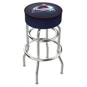 L7C1 - 4 Colorado Avalanche Cushion Seat with Double-Ring Chrome Base Swivel Bar Stool by Holland Bar Stool Company