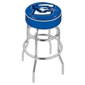 L7C1 - 4 Creighton Cushion Seat with Double-Ring Chrome Base Swivel Bar Stool by Holland Bar Stool Company
