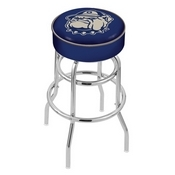 L7C1 - 4 Georgetown Cushion Seat with Double-Ring Chrome Base Swivel Bar Stool by Holland Bar Stool Company