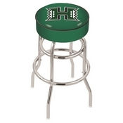 L7C1 - 4 Hawaii Cushion Seat with Double-Ring Chrome Base Swivel Bar Stool by Holland Bar Stool Company