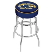 L7C1 - 4 Kent State Cushion Seat with Double-Ring Chrome Base Swivel Bar Stool by Holland Bar Stool Company